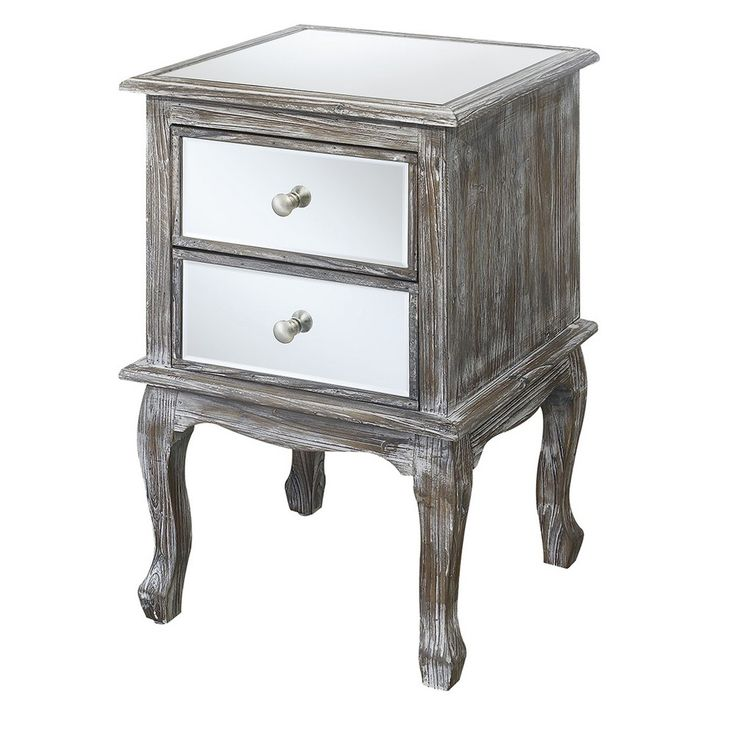 Gold Coast Queen Anne Mirrored End Table - W