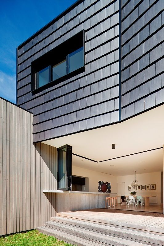 9 best images about vertical application of roof tiles on for Modern house john welsh