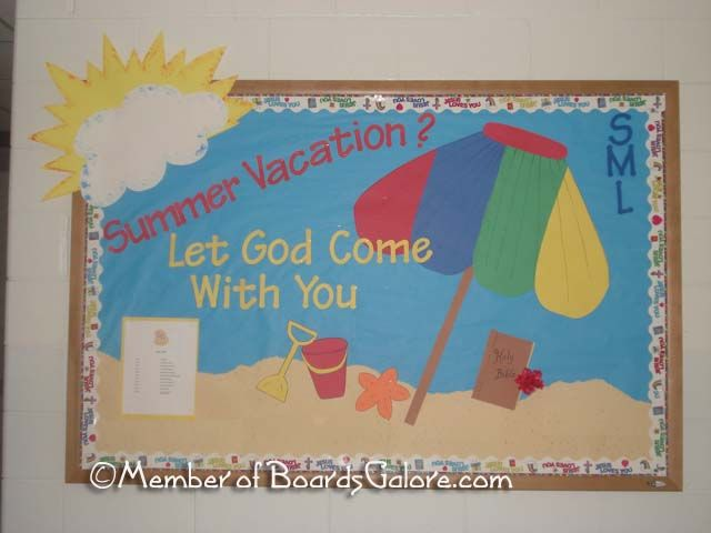 Check out our beach themed die cuts to make this bulletin board. www.littleextrasdiecuts.com