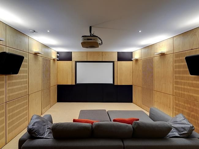Media and entertainment room #home #houses #rooms #decorate #property