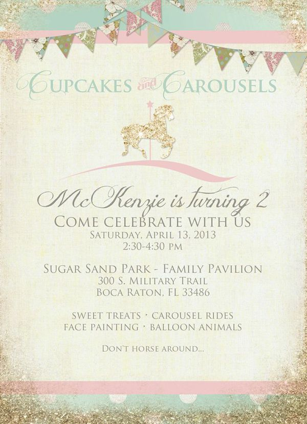 Cupcakes and Carousels 2nd Birthday Party Via Kara's Party Ideas Kara'sPartyIdeas (21)