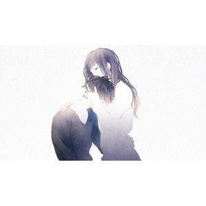 25 best ideas about sad anime couples on pinterest otp - Anime boy hugging girl ...