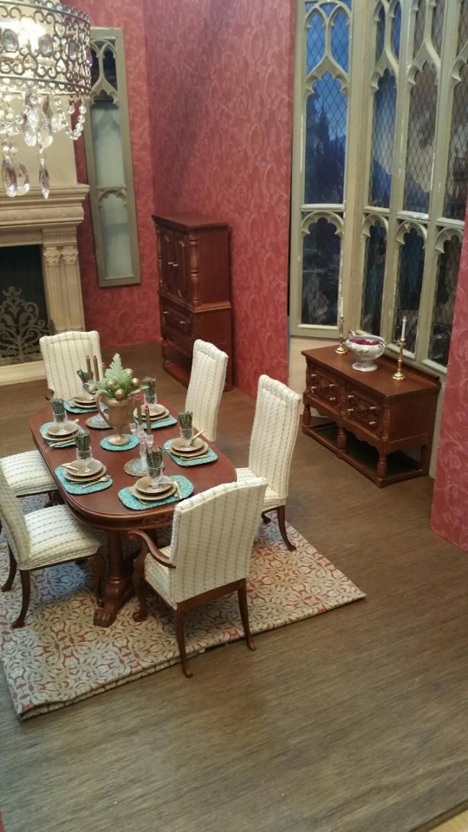 10 awesome barbie doll house models - 1 6 Scale Manor House Dining Room