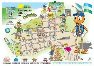 Mapa de la zona urbana de Tabio, Colombia   also see you tube video with a kid playing the zampona y quena en a plaza in Tabio
