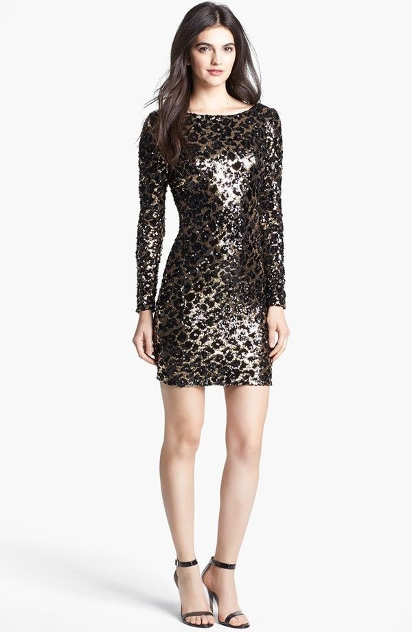 eeabd42f Dress The Population Lola Animal Sequin Dress | Dress | Sequin dress ...