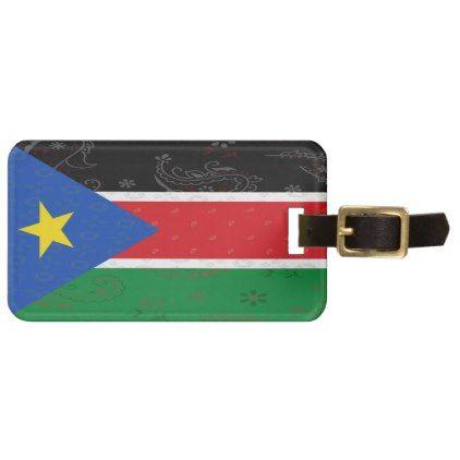 South Sudan Flag Luggage Tag - accessories accessory gift idea stylish unique custom