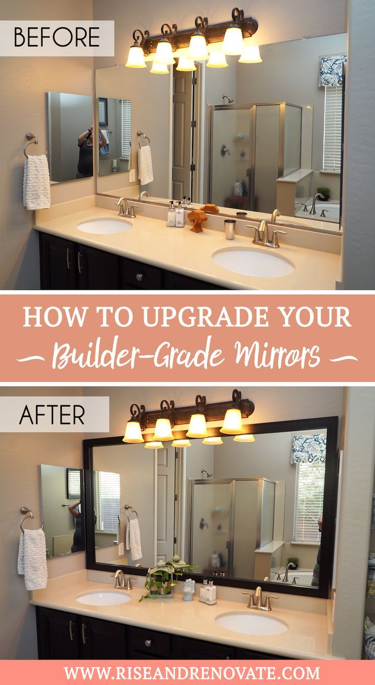 Mirror Frame Review Of Mirrorchic Com Rise And Renovate Bathroom Mirror Frame Mirror Frame Diy Bathroom Mirrors Diy