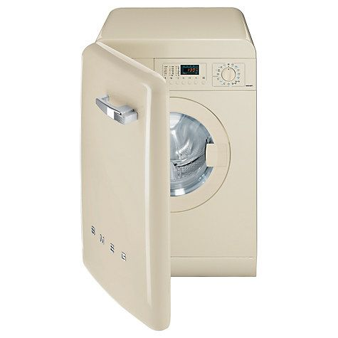 Buy Smeg WMFABP1 Slim Depth Freestanding Washing Machine, 7kg Load, A Energy Rating, 1400rpm Spin, Cream Online at johnlewis.com