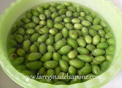 La Regina del Sapone: deamarizzare le olive