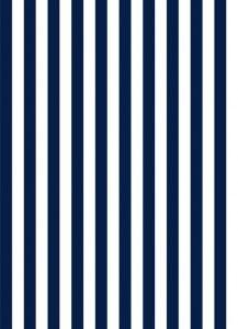 Papel de parede auto colante adesivo, estilo listrado nas cores azul marinho e branco Fácil aplicação, lavavel e de muito bom gosto