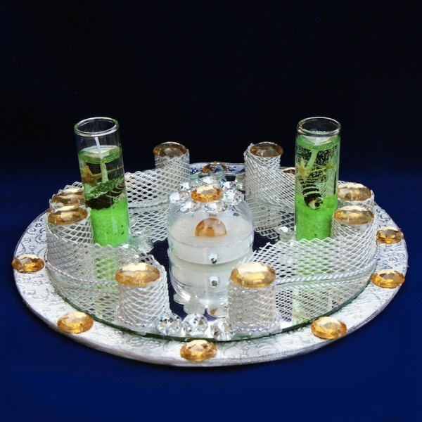 Ring Tray With Two Candles Click To Buy