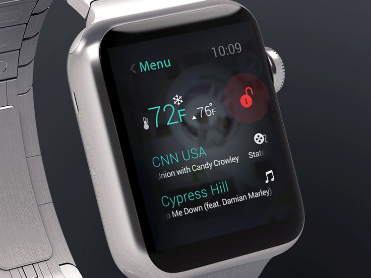 Smart home control with Apple Watch by Andrii Klenin for SoftServe Design Office