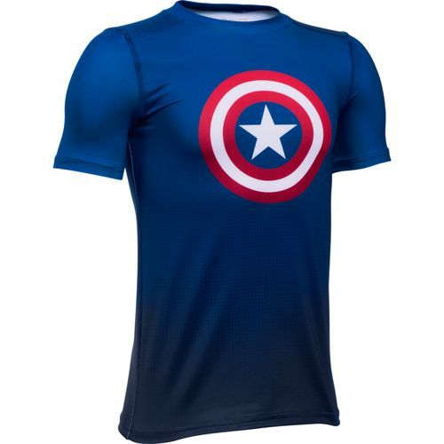 Under Armour Boys' Alter Ego Marvel Fitted Baselayer (Blue, Size Medium) - Boy's Apparel, Boy's Athletic Tops at Academy Sports