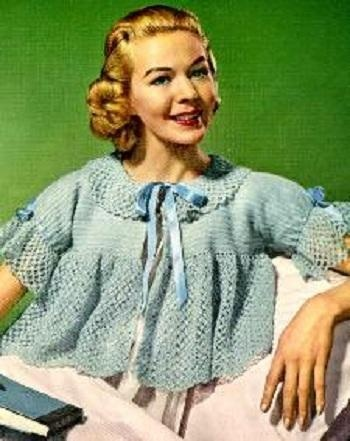 Perfect Free Knitting Patterns For Bed Jackets Picture Collection