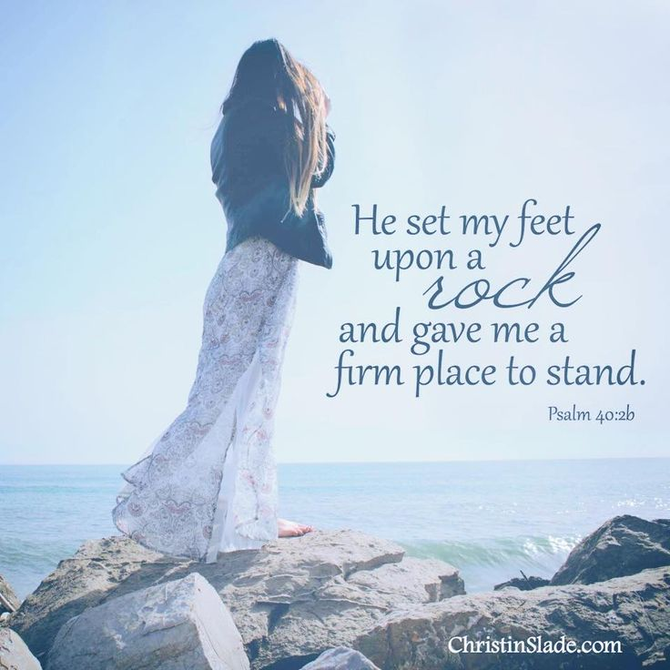 """""""He brought me up also out of an horrible pit, out of the miry clay, and established my goings."""" Psalm 40:2 KJV"""