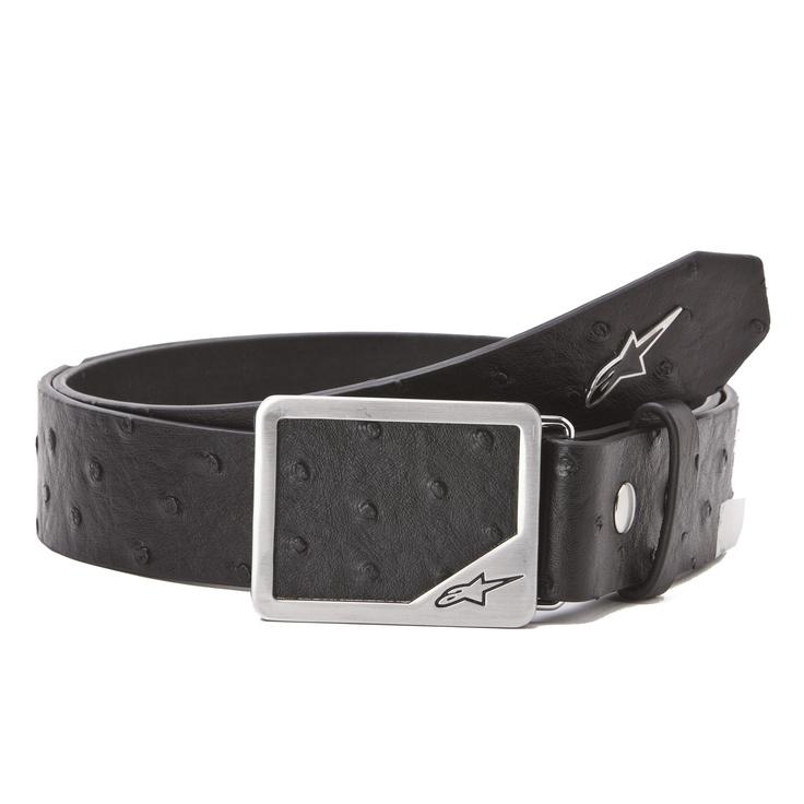Alpinestars Camelus Belt. 100% PU + Zinc Alloy Buckle, Synthetic Ostrich Buckle and Belt. $24.95, vegan