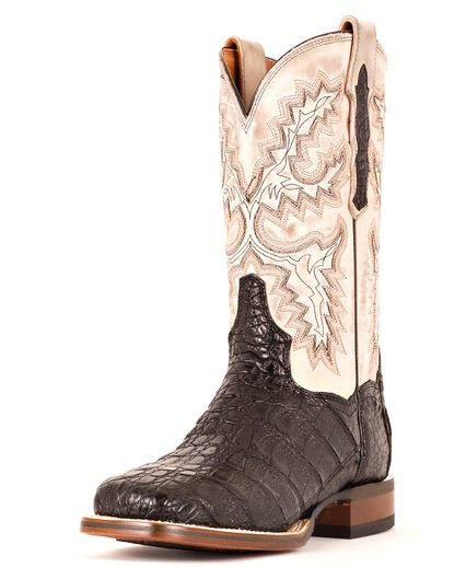 Men's Denver Caiman Boots - Black
