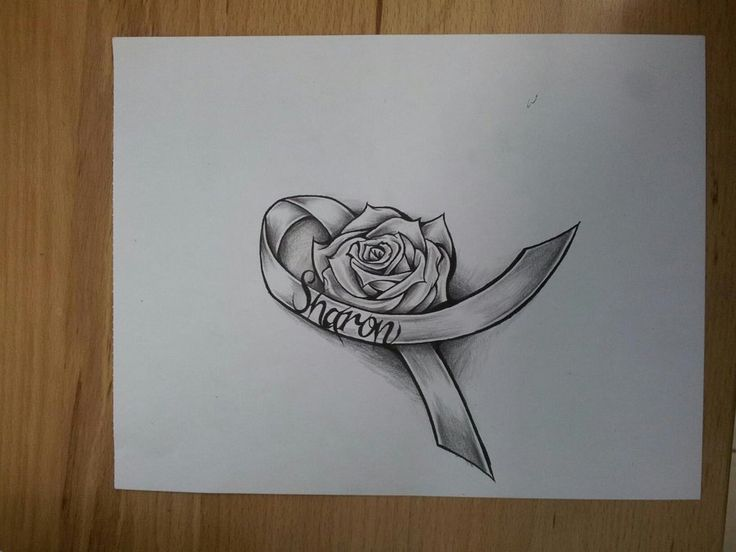Cancer Rose Ribbon by MagnaSicParvis.deviantart.com on @deviantART