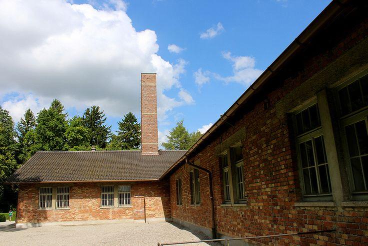 Dachau Memorial. The crematorium.