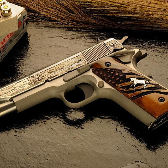Flashback Friday to when Altamont made custom engraved slides & grips for the limited edition Colt 1911 Iwo Jima by TALO.