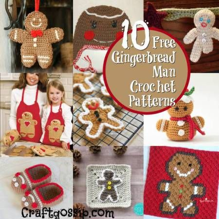 10 Christmas Gingerbread Man Crochet Pattern – Crochet