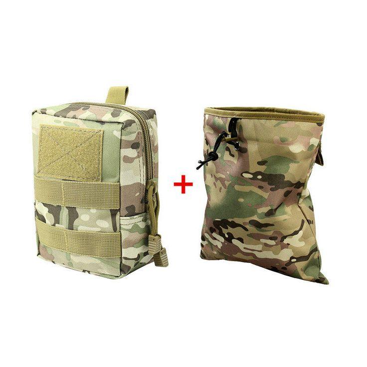 he Bakari tactical belt pouch and accessory bag is a great small bag for tools, a first aid kit, survival gear, tech gear, and more. The main bag measures 6.5 x 4.5 X 2.7 inches and attaches easily to your belt or larger pack with two, heavy-duty nylon straps. The front of the bag features nylon loops for MOLLE accessories and a velcro patch.