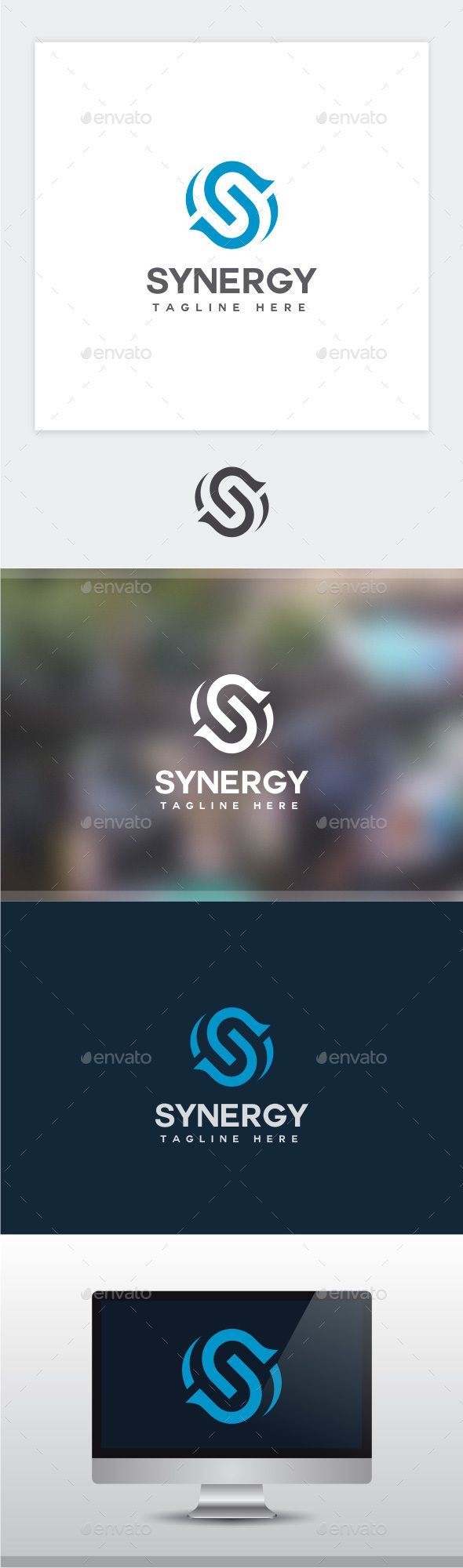 Synergy  Letter S Logo — Photoshop PSD #internet #app • Available here → https://graphicriver.net/item/synergy-letter-s-logo/16572539?ref=pxcr