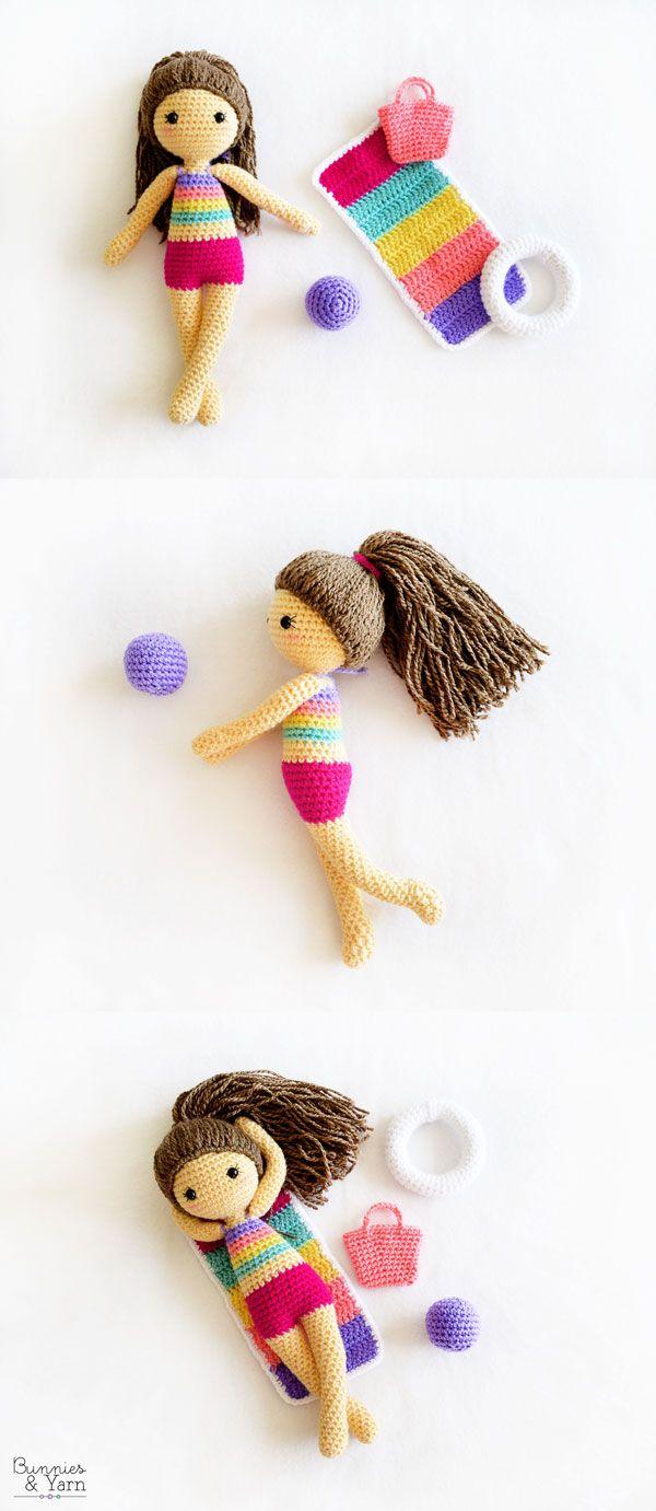 CROCHET PATTERN - Sol the Summer Doll - Amigurumi