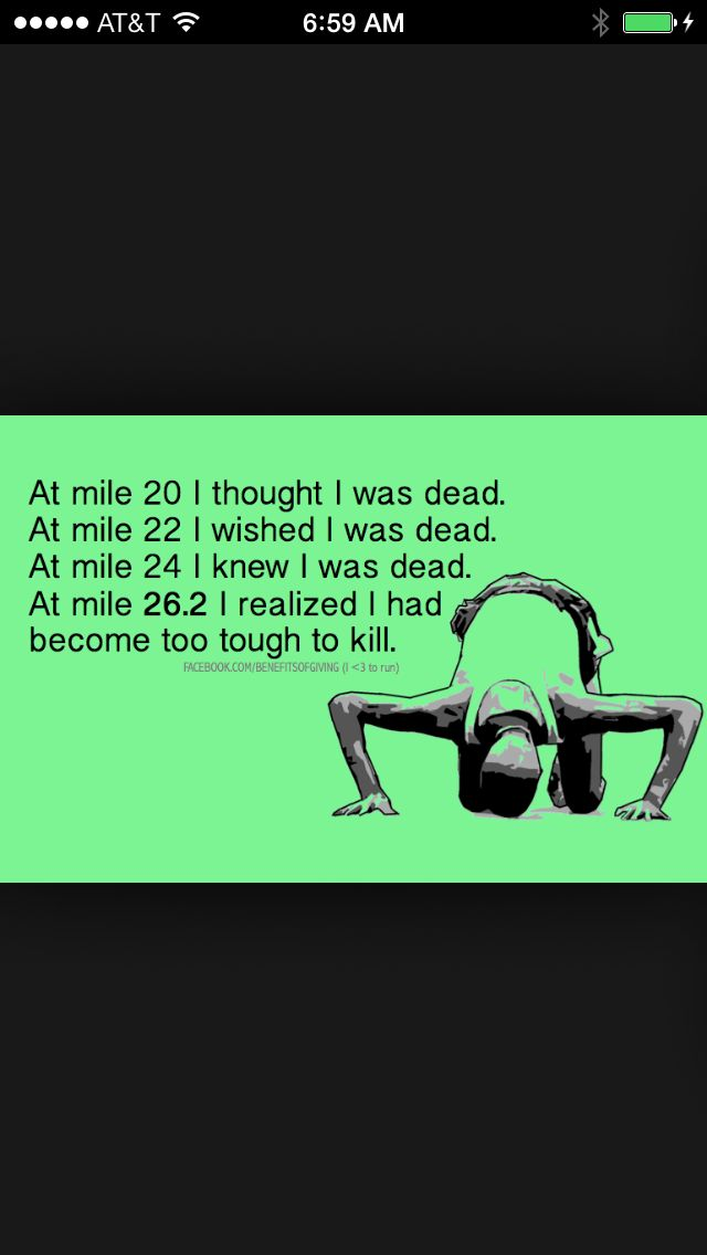 Lets see if this is how i feel on my first Marathon!