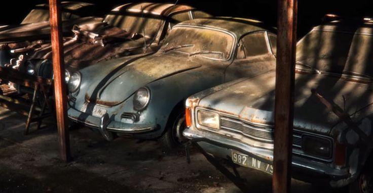 ▶ Autokerkhof met 60 oldtimers nadat ze 50 jaar vergeten waren op een Franse boerderij   Flabber