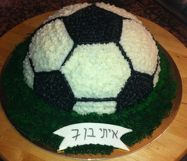 Buttercream Soccer Ball Cake