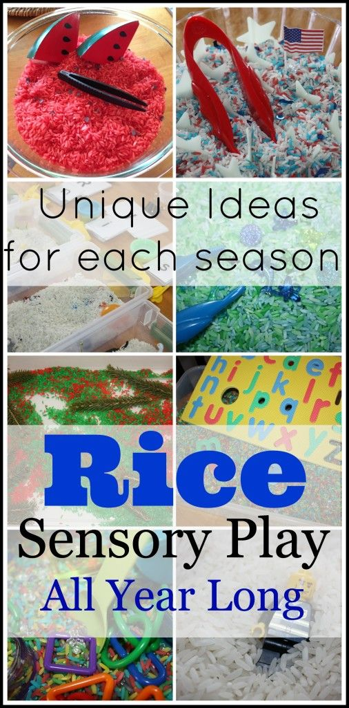 So many great ideas for sensory bins broken down by season and theme! ;)