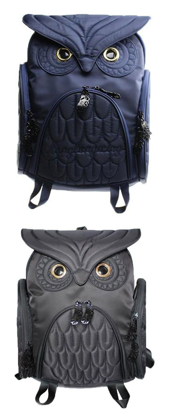 Unique Cool Owl Shape Solid Computer Backpack School Bag Travel Bag for big sale ! #owl #backpack #Bag #animal #cartoon #travel