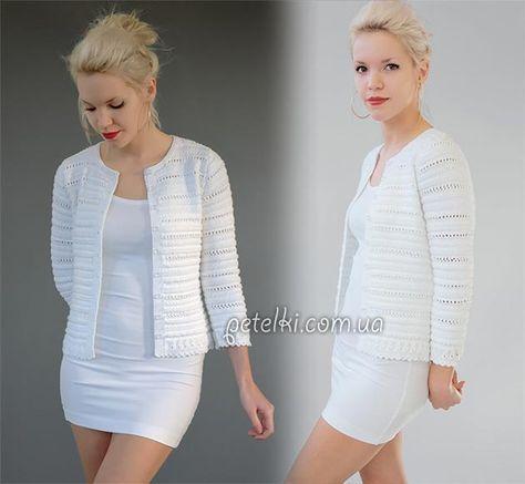 Жакет Кристина от дизайнера Kim Hargreaves. Связан спицами в приятную текстурную полоску. ©