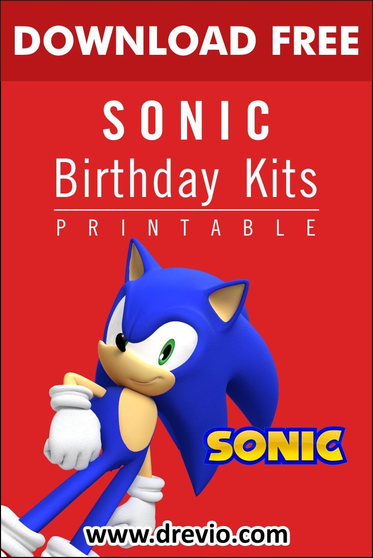 Free Printable Sonic The Hedgehog Birthday Party Kits Templates Free Printable And Agile In 2020 Sonic Birthday Sonic Birthday Parties Hedgehog Birthday