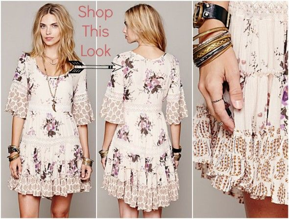 Bohemian style dresses white and pink