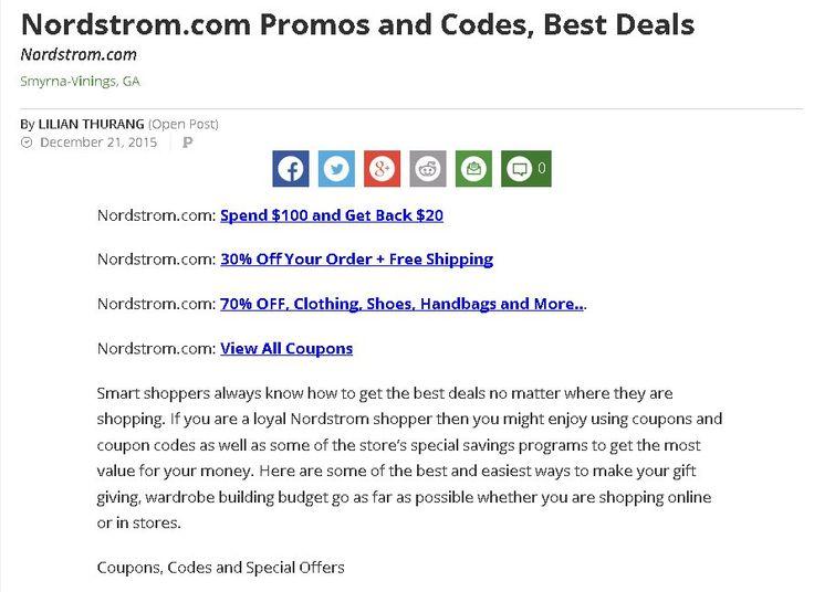 Nordstrom online coupon code
