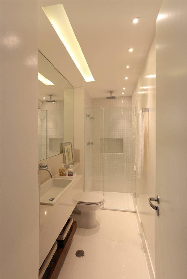 Baños de estilo translation missing: mx.style.baños.moderno por MANDRIL ARQUITETURA E INTERIORES #bañospequeños
