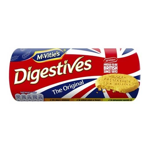 McVities Digestives Biscuits are delicious homewheat biscuits perfect when dunking in a cuppa! McVities English biscuits are the most popular brand of cookie in the UK.