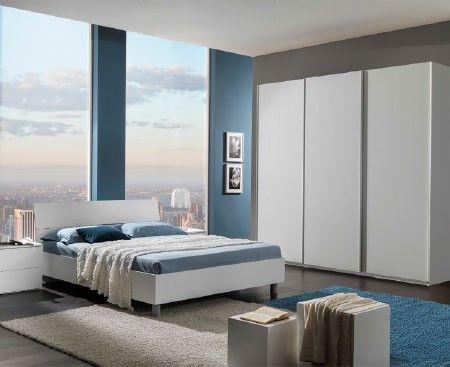Camera da letto completa con armadio scorrevole