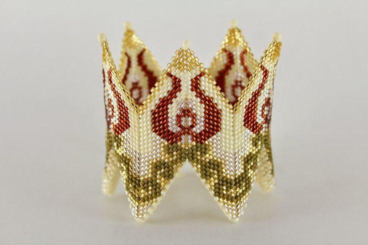 Anna Mosztok bead jewelry: Cikk-Cakk karkötő / Rick-Rack bracelet