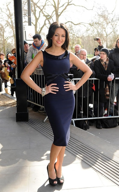Michelle Keegan attends the TRIC awards at The Grosvenor House Hotel in London