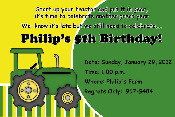 John Deere Personalized Birthday Invitations  by PartyCreations4u, $10.00