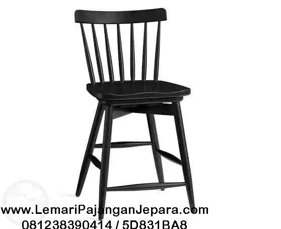 Jual Kursi Cafe Bar Tiffany Cat Duco Hitam merupakan Produk Mebel Furniture Indo Kursi Jepara dengan desain Jari Jari yang menggunakan bahan kayu mahoni solid