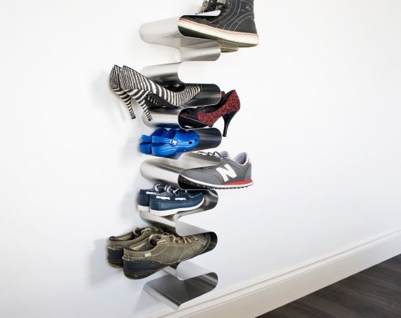 vertical shoe rack wall mounted stacked