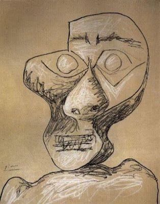 Picasso, autoportrait, 1972 (92 ans)
