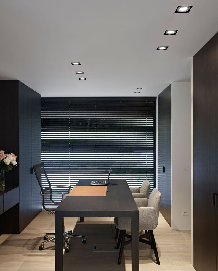 Home office inspiration by delta light featuring the minigrid in trimless