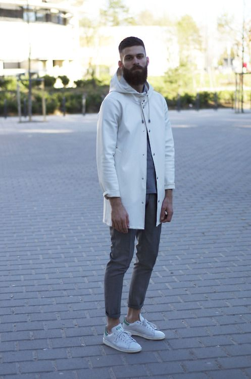 Jacket Stutterheim  Trousers Sandro Sneakers Stan Smith   Style For Menwww.yourstyle-men.tumblr.com VKONTAKTE -//- FACEBOOK -//- INSTAGRAM