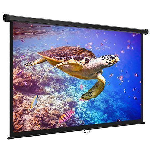 "Outdoor Movie Projector Screen 80"" HDTV Home Theater Movies Cinema Portable New #OutdoorMovieProjectorScreen80"