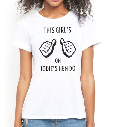 personalise this hen party t-shirt the way you want it